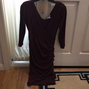 Body con wrap dress